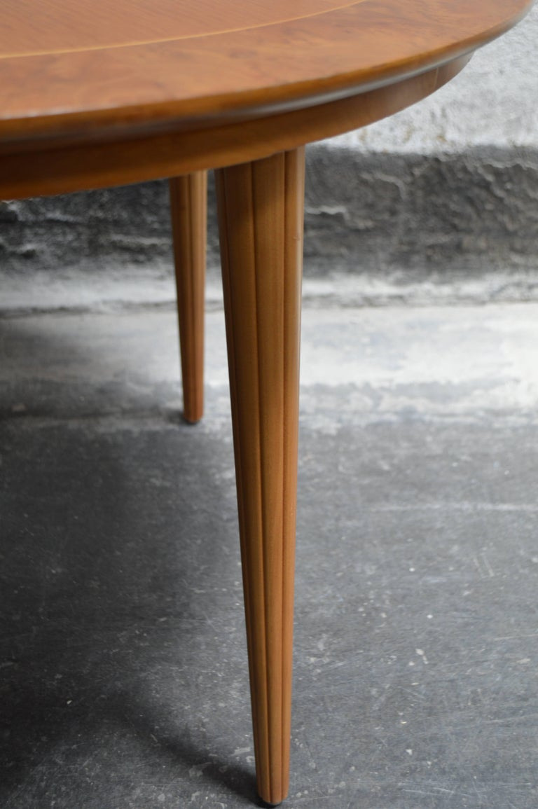 Swedish Round Golden Elm End or Side Table For Sale 1