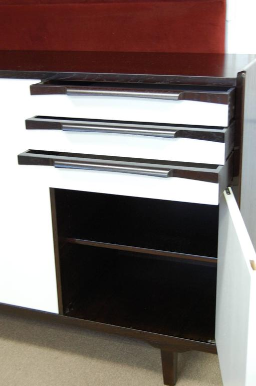 Swedish Mid-Century Teak and White Lacquer Credenza For Sale 2