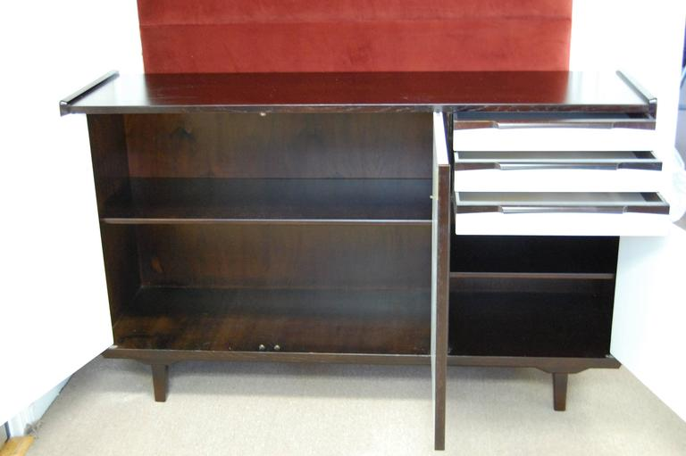 Swedish Mid-Century Teak and White Lacquer Credenza For Sale 1