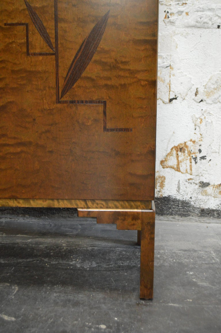 Swedish Inlaid Art Deco Bookcase Storage Cabinet For Sale 2