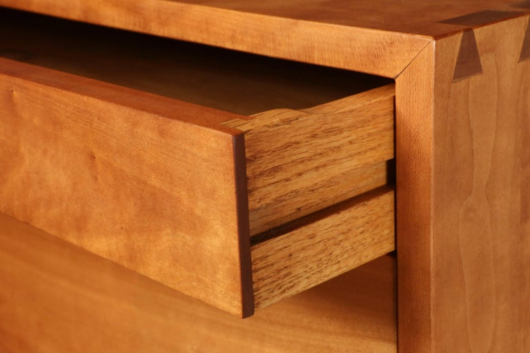 Mid-Century Modern Tall Cherry Chest by George Nakashima For Sale
