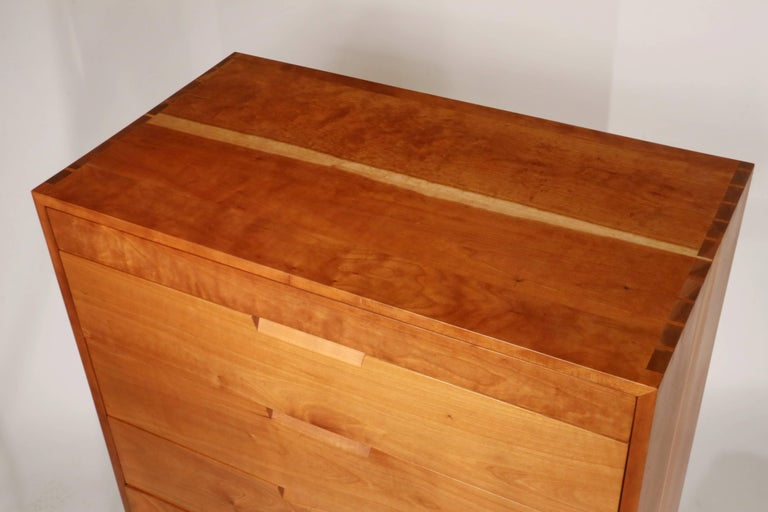 American Tall Cherry Chest by George Nakashima For Sale