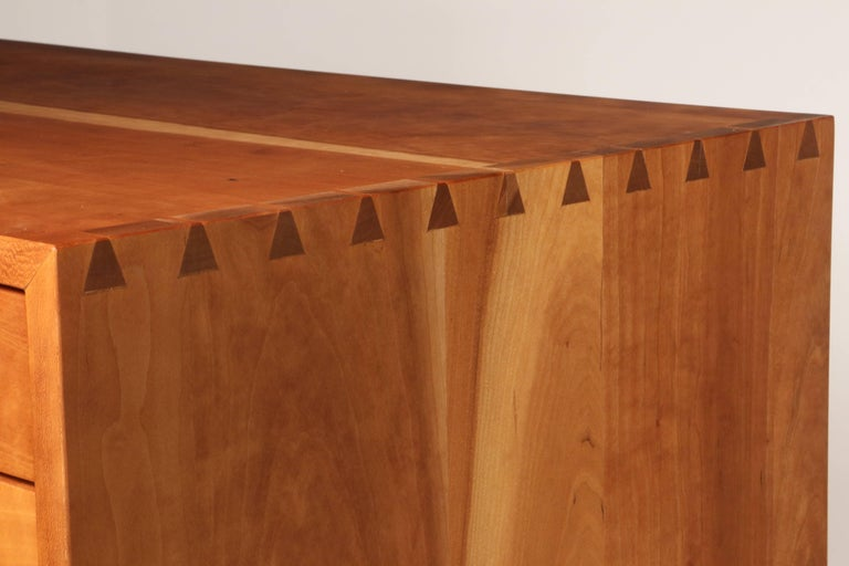 Tall Cherry Chest by George Nakashima In Excellent Condition For Sale In Sea Cliff, NY