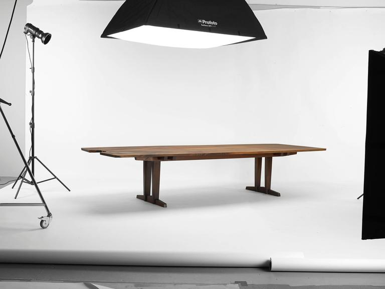Hand-Crafted 20th Century Minguren iv Walnut Table by George Nakjashima For Sale