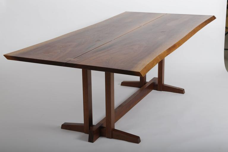 Mid-Century Modern Walnut Frenchmans Cove Dinning Table by George Nakashima For Sale