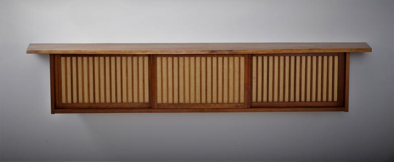 Walnut Wall Cabinet by George Nakashima 2
