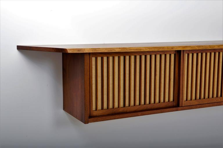 Mid-Century Modern Walnut Wall Cabinet by George Nakashima For Sale