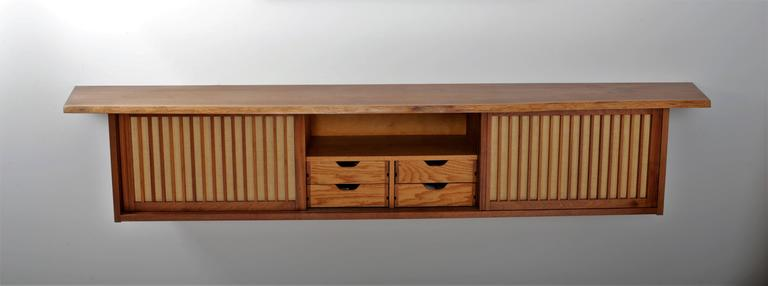 American Walnut Wall Cabinet by George Nakashima For Sale