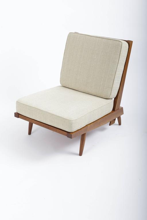 Cherry Spindle Cushion Chair by George Nakashima 2