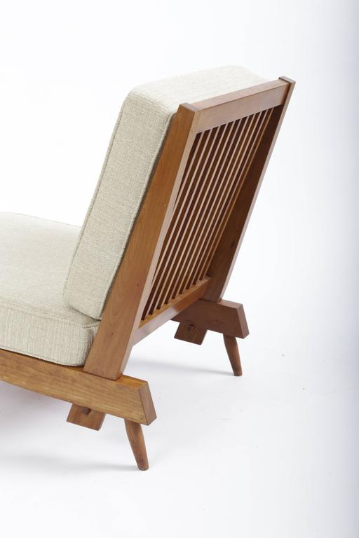 Cherry Spindle Cushion Chair by George Nakashima 5