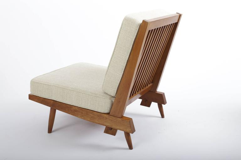 Cherry Spindle Cushion Chair by George Nakashima 3