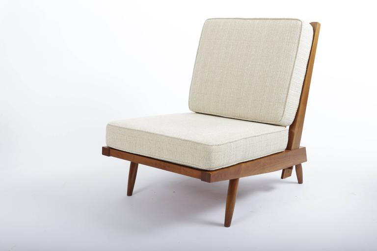 Cherry Spindle Cushion Chair by George Nakashima 4