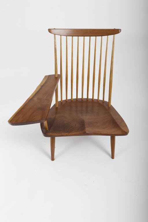 Hand-Crafted Walnut Lounge Chair by George Nakashima For Sale