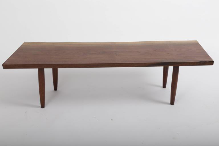Walnut Q Bench by George Nakashima 3