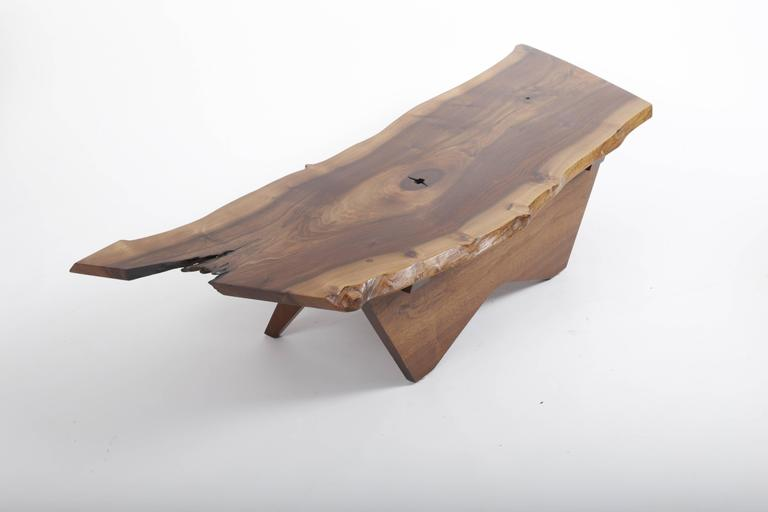 American Walnut Butterfly Base Coffee Table by George Nakashima For Sale