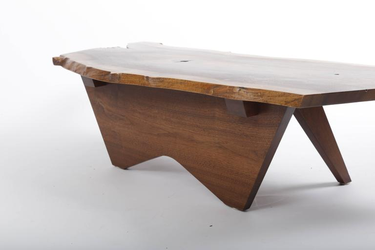 Hand-Crafted Walnut Butterfly Base Coffee Table by George Nakashima For Sale