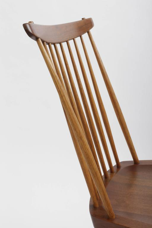 Mid-Century Modern Set of Eight New Style Chairs by George Nakashima For Sale