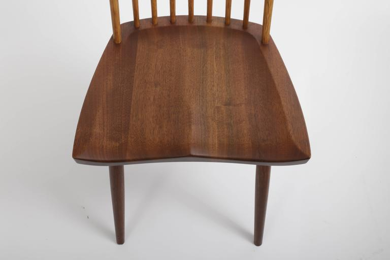American Set of Eight New Style Chairs by George Nakashima For Sale