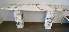 Beautifully Grained Carrara Marble Console Table