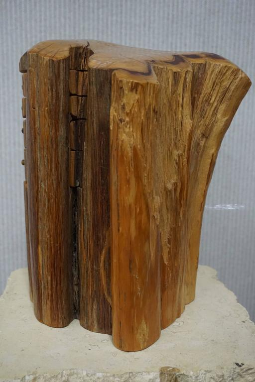 Unique carved cherywood jewelry stash box at stdibs