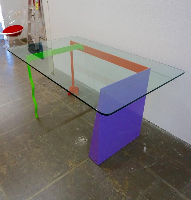 "Italian Peter Shire ""Memphis Milano"" Desk, 1982 For Sale"