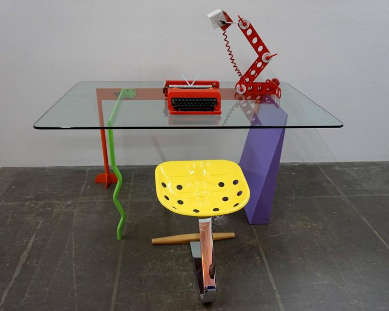 "Late 20th Century Peter Shire ""Memphis Milano"" Desk, 1982 For Sale"