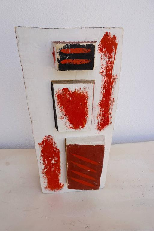 Abstract Painted Wood Sculpture by John Haley 3