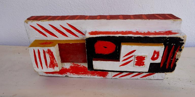 Abstract Painted Wood Sculpture by John Haley 6