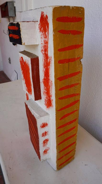 Abstract Painted Wood Sculpture by John Haley 8