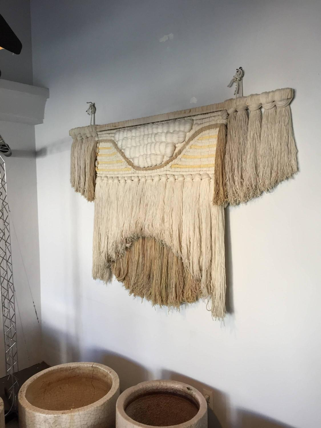Large 1960s Macrame Fiber Art For Sale At 1stdibs