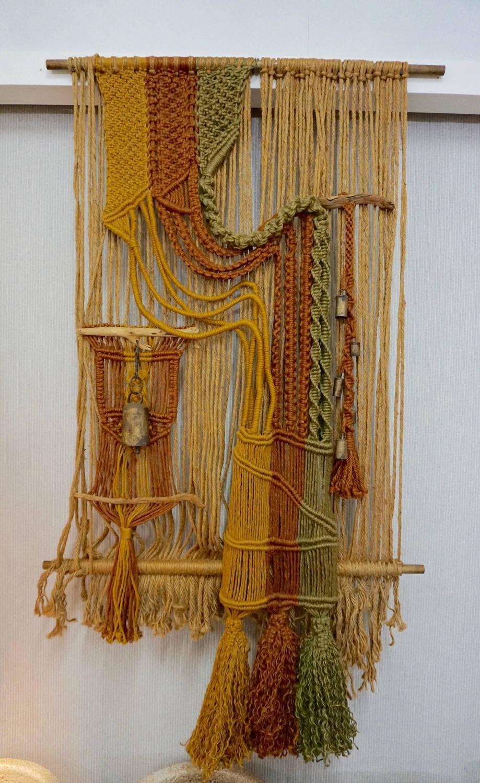 Large 1960s Macrame Fiber Art For Sale At 1stdibs