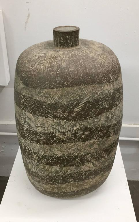 Large Ceramic Vessel by Claude Conover For Sale 1