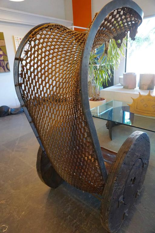 Mid-20th Century Outstanding Bohemian Brutalist Chair For Sale