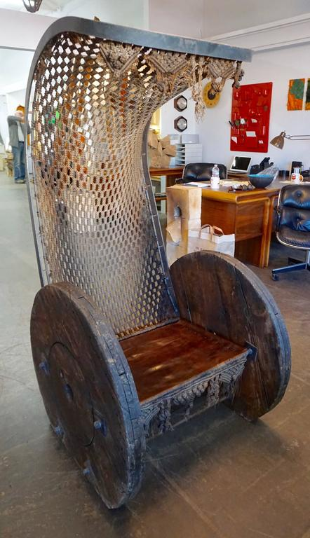 Outstanding Bohemian Brutalist Chair For Sale 6