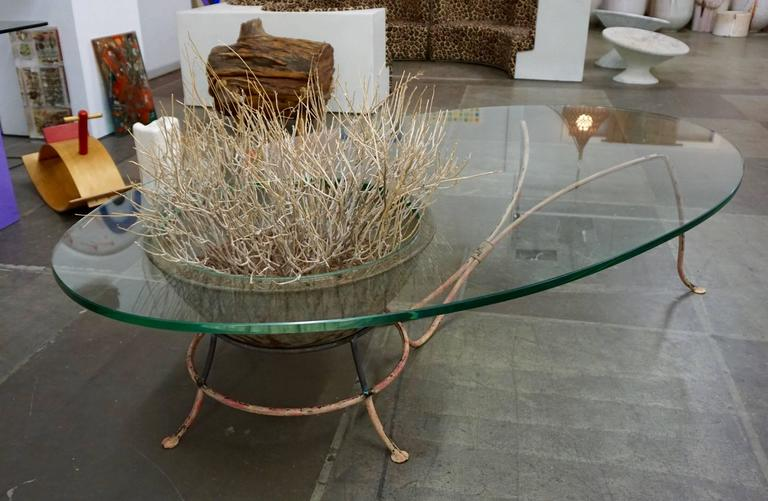 Unusual Glass Top Coffee Table 3