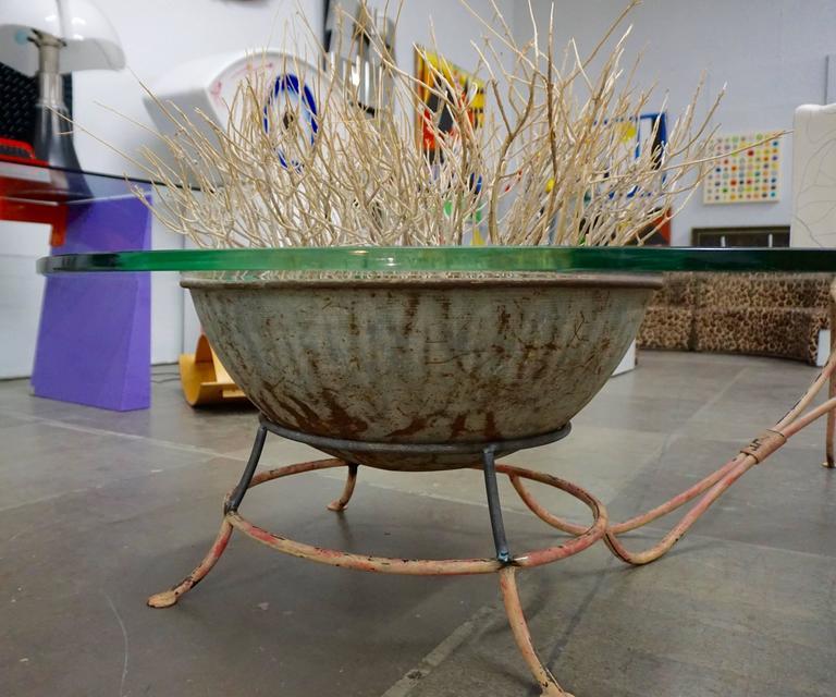 Unusual Glass Top Coffee Table 4