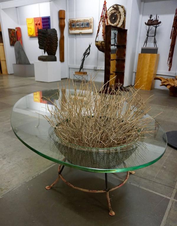 Unusual Glass Top Coffee Table 7