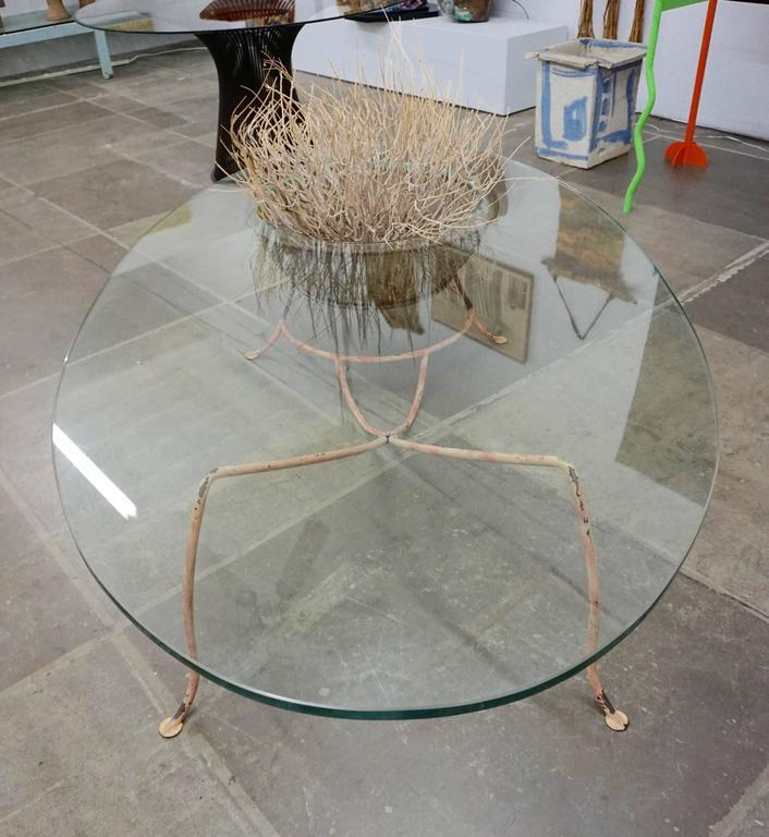 Unusual Glass Top Coffee Table 8