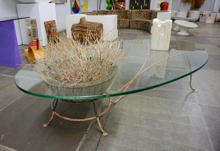 Unusual Glass Top Coffee Table 9