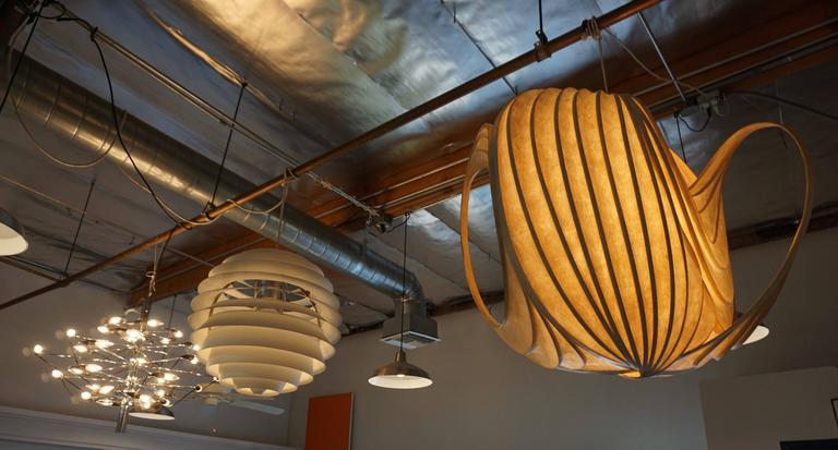 Pendant Light Sculpture by William Leslie 7