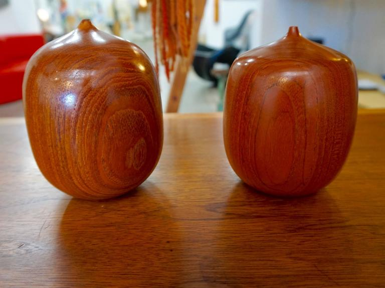 "Turned Wood Weedpots Signed ""Mordaunt '72"" 2"