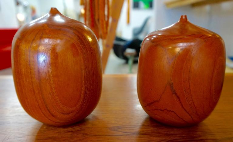 "Turned Wood Weedpots Signed ""Mordaunt '72"" 7"