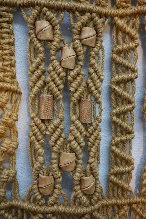 Mid-Century Modern 1960s Hippie Macrame For Sale