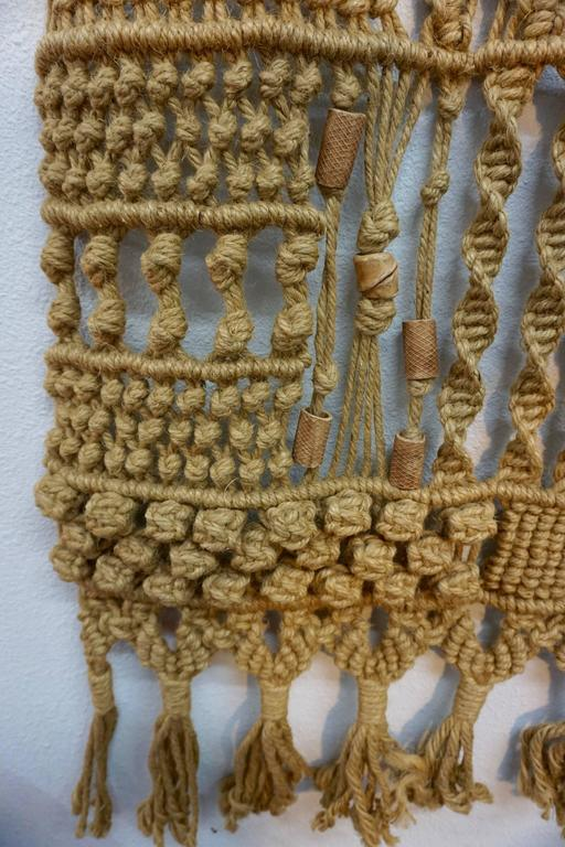 American 1960s Hippie Macrame For Sale