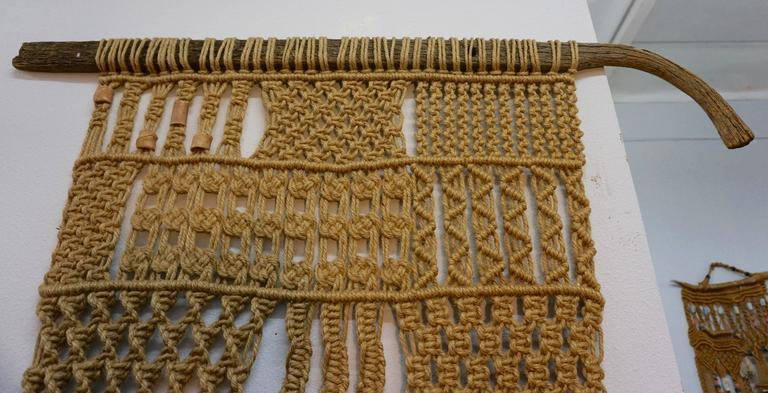 1960s Hippie Macrame In Excellent Condition For Sale In Cathedral City, CA