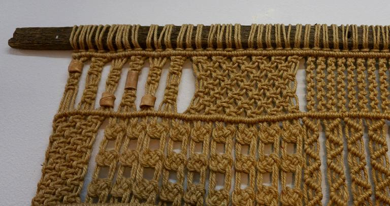 Mid-20th Century 1960s Hippie Macrame For Sale