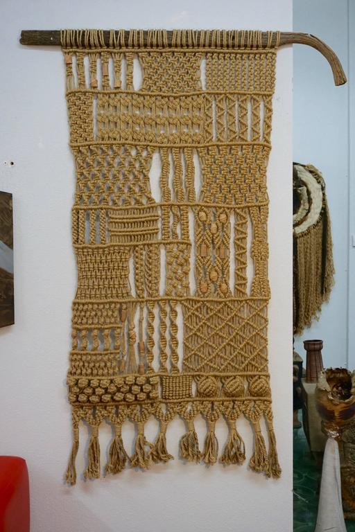 1960s Hippie Macrame For Sale 3