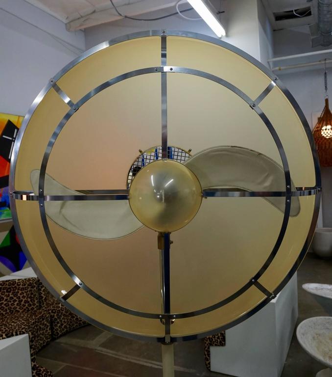 1970s Leather Wrapped Fan 4