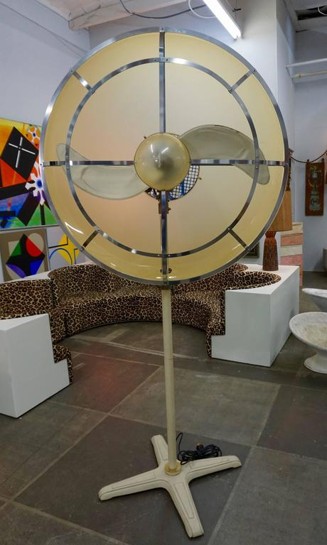 1970s Leather Wrapped Fan 7