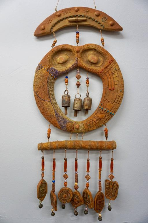 Doublesided Ceramic Hanging Sculpture, 1960s 2
